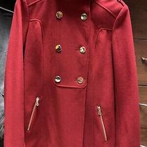 Guess Red Pea Coat Size S Photo