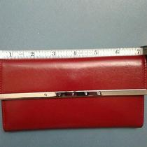 Guess Red Trifold Wallet Check Book Euc Photo