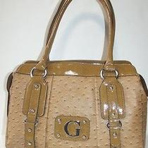 Guess Rogue Cognac Satchel Leather Like Handbag Purse New With Tag Photo