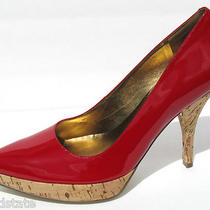 Guess Salina Red Patent Heels Platform Sz 77.510 New Authentic Photo