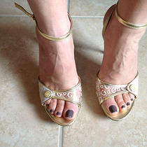 Guess Sandals Gold Size 7.5 Photo
