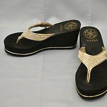 Guess Sarraly Wedge Sandals Women's Size 8m Black Photo