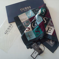 Guess Scarf Original 100% Silk New Photo