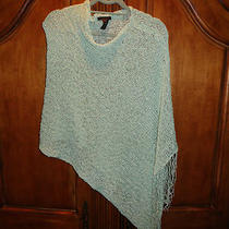Guess Sea Green Knitted Shawl One Size Fits All Photo