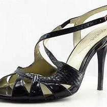 Guess Size 7.5 M Black Slingback Patent Leather Women Sandal Shoes  Photo