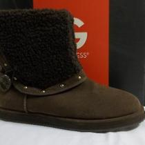 Guess Size 8 M Ganya Dark Brown Ankle Boots New Womens Shoes Photo