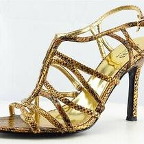Guess Size 9 M Gold Gladiator Synthetic Women Sandal Shoes  Photo