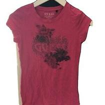 Guess Size Small Pink Short Sleeve T-Shirt (S15) Photo