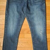 Guess Skinny Dark Wash Blue Jeans Boys Size 20 X 32 Cotton Spandex Blend Photo