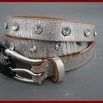 Guess Skinny Womens Belt Leather  M Medium Vintage Guess Collection Photo