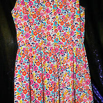Guess Sleeveless Floral Dress Size 5 Pink Red Orange Yellow Blue Photo