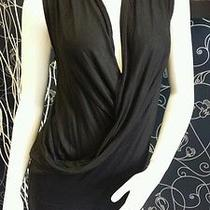 Guess Sleeveless Solid Black Wrap Tunic M Photo