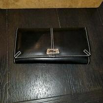 Guess Slick Black Elegant Wallet Organizer Clutch Photo