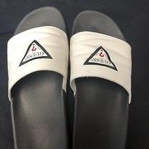 Guess Slide Sandals Slippers  With Guess Logo White  Mens Size 12 Photo