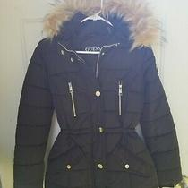 Guess Slim Faux Zipper Women's Jacket Black Jacket Size Xs Nwt  Photo