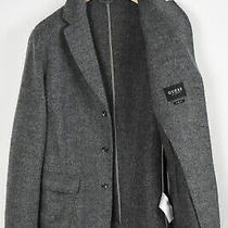 Guess Slim Fit M74n12 W93r0 Men's L Wool Blend Patch Blazer Type Coat 29074-Js Photo