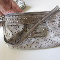 Guess Small Beige Clutch Photo