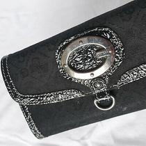 Guess Small Black Clutch Handbag Bag Purse Photo