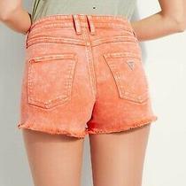 Guess Stonewashed Denim Shorts Cut-Offs Size 26 Photo