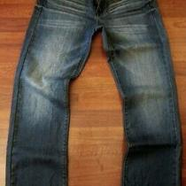 Guess Straight Leg Jeans Men Size 38 X 32 Vintage Distressed Medium Wash New Photo