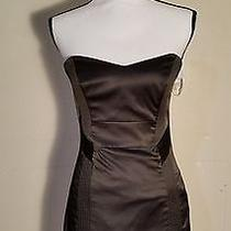 Guess Strapless Sweetheart Black Dress Size 5 Photo