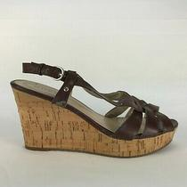 Guess Strappy Cork Wedges Women's 8 M Brown Dress Casual Sandals Photo