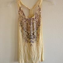 Guess Summer Tank Top Yellow Size Xs Photo