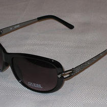 Guess Sunglasses Black Plastic Frame 100% Uv Protection Gu 7072 New  Photo