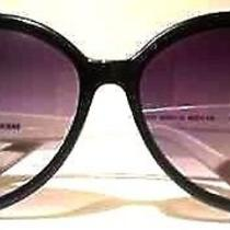 Guess Sunglasses  Black White Oversized Round Style W Sexy Smoke Lens  Nwt Photo
