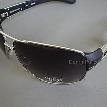 Guess Sunglasses Mens Black Gu6757 Si 35 Silver Black Photo