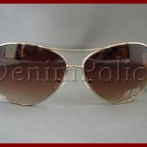 Guess Sunglasses Women's Gu7021 Gld 34 Heart Crystals Gold  Photo