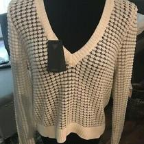 Guess Sweater With Sparkle Semi-Open Back Size Xl Nwt Photo
