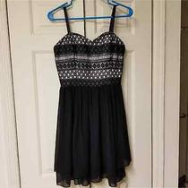 Guess Sweetheart Neck Lacy Dress Size 8 Photo