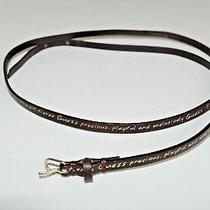 Guess Sz Xs S  M  Womens Waist Belt Logo Leather Brown Golden Sexy Skinny 630 Photo