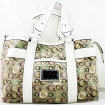 Guess Taluca Purse Women's Handbag Bag 100% Authentic White Satchel De282707   Photo