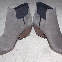 Guess Taupe Suede Booties Size 7m Photo