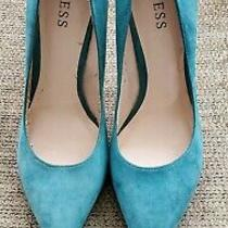 Guess Teal Suede Pointed Heels/pumps - Size 9m Photo
