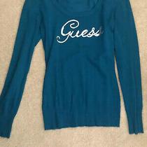 Guess Teal Sweater Medium Photo