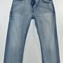 Guess the Dean Relaxed Fit Button Fly Jeans Mens Size 31 Blue Meas. 31x30.5 Photo