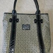 Guess Tote Bag Purse Handbag Black With Logo Magnetic Closure  Photo