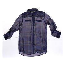 Guess Trendy Button-Up Shirt Size Jr 7 Photo