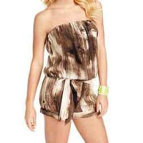 Guess Trina Strapless Abstract Print Romper Shorts Sz Xl Photo