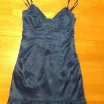 Guess Turquise Blue Fitted Bodycon Sexy Dress Ruffle Sean Details Stretch Xs S  Photo