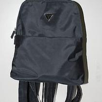 Guess Usa Black Nylon Backpack Handbag Photo