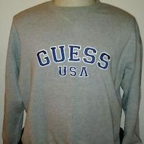 Guess Usa - Men's Sweater - Size Xl - Vintage 90s - Gray - X-Large Photo