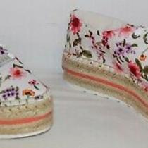 Guess Venusa Platform Espadrilles Sneakers White Floral Women's Size 8 M New Photo