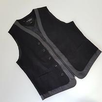 Guess Vest Men's Size Large Layered Look Black Gray Zip Front Photo