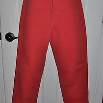 Guess Vintage 80s 90s Grunge Red Denim High Waist Tapered Leg Skinny Jeans Sz 29 Photo