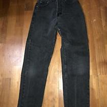 Guess Vintage Womens Jeans Size 38 Hight Waisted Button Fly Closure Black Straig Photo