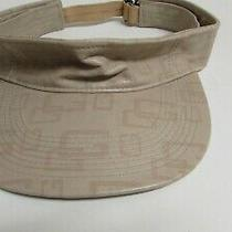 Guess   Visor  Hat Marked G Faux Leather Good Condition Photo